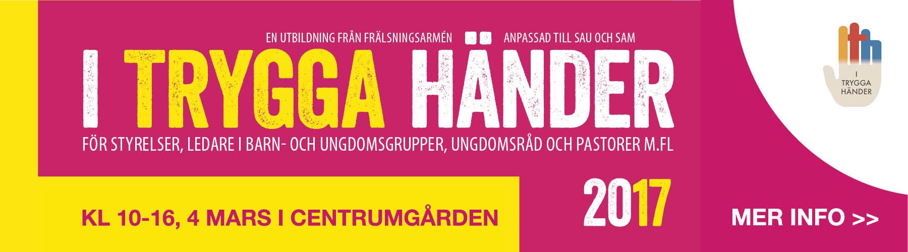 I truga händer, centrumgården, centrumförsamlingen, forserum, ledarutbildning